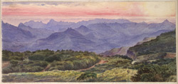 'Sketch from the Verandah of Mount Malcolm (the Bishop's House) Mahableshwar. 8th November 1871'.
